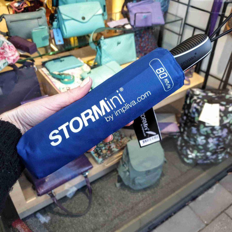 Stevige paraplu STORMini stormproof in blauw