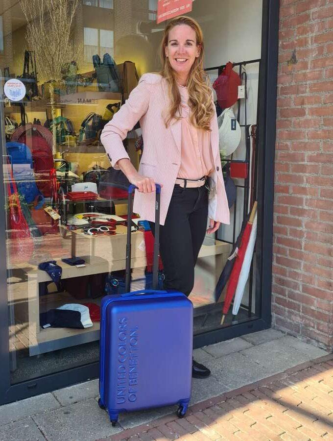 Benetton handbagage koffer UCB Trolley 55cm in blauw