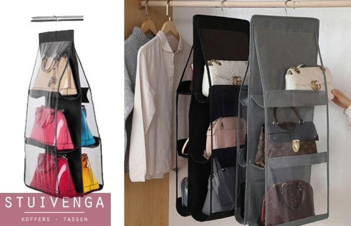 Tassenorganiser voor in je kledingkast