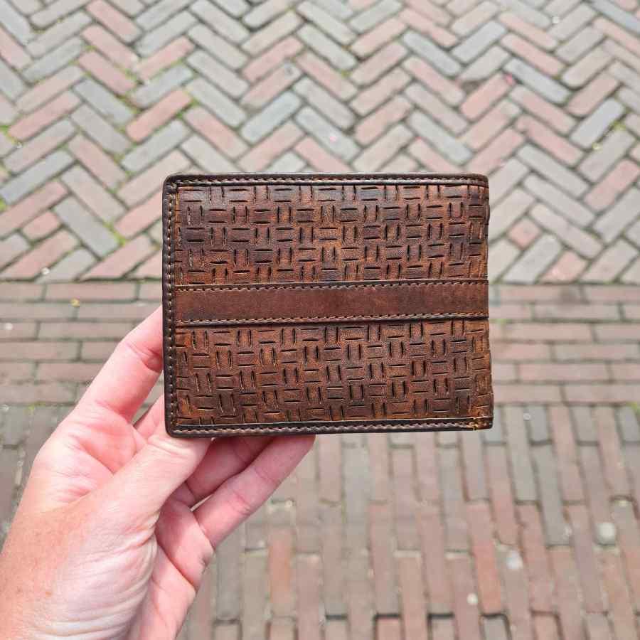 Beardesign Grizzly portemonnee bruine billfold