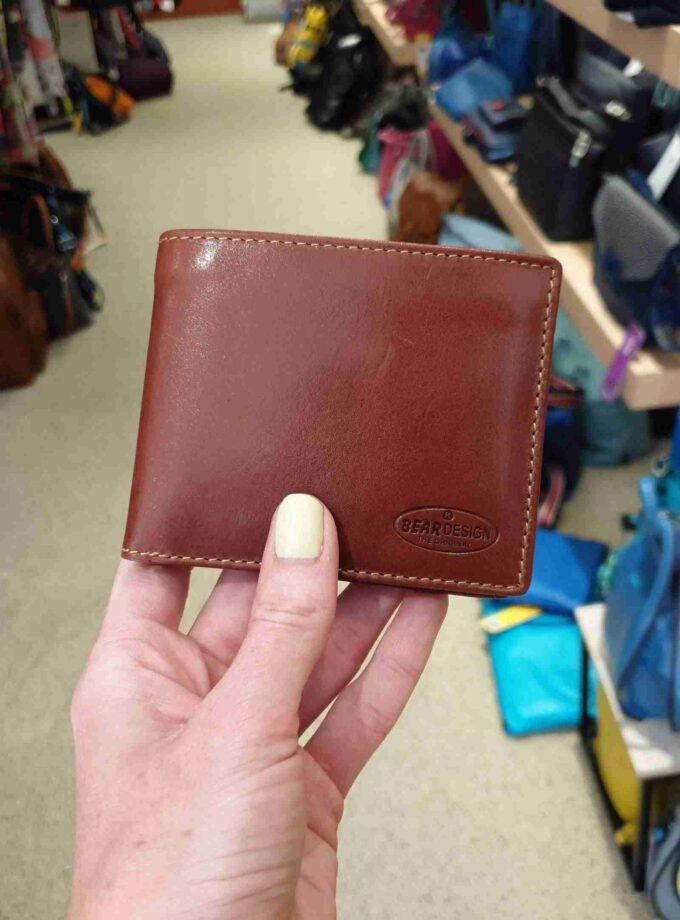 Beardesign billfold cognac
