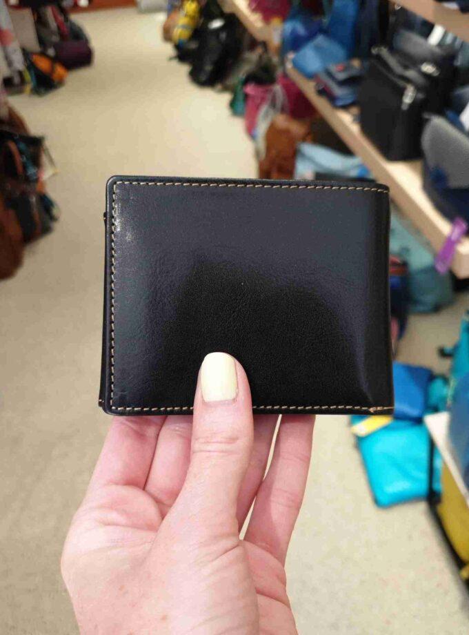 Beardesign billfold met drukker voor 5 CC in zwart