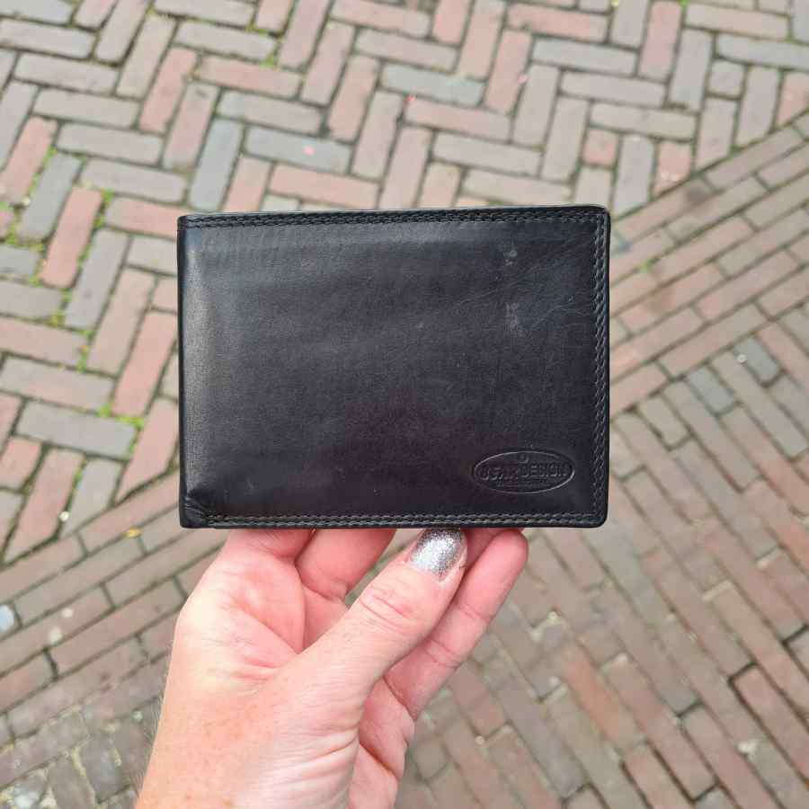 Beardesign billfold zwart leer 7 CC RFID