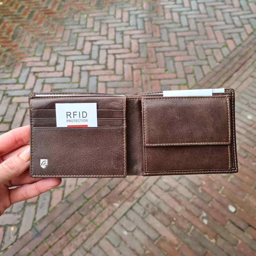 Castelijn en Beerens Billfold mat bruin 8 creditcards
