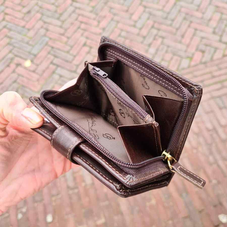 Castelijn en Beerens portemonnee ritsvak 9CC RFID Mokka
