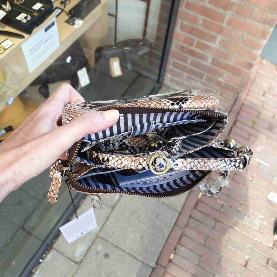 Clutch Anaconda print snake grote portemonnee