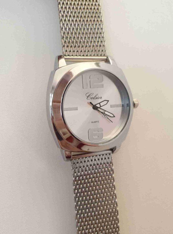 Horloge grof zilver stalen band