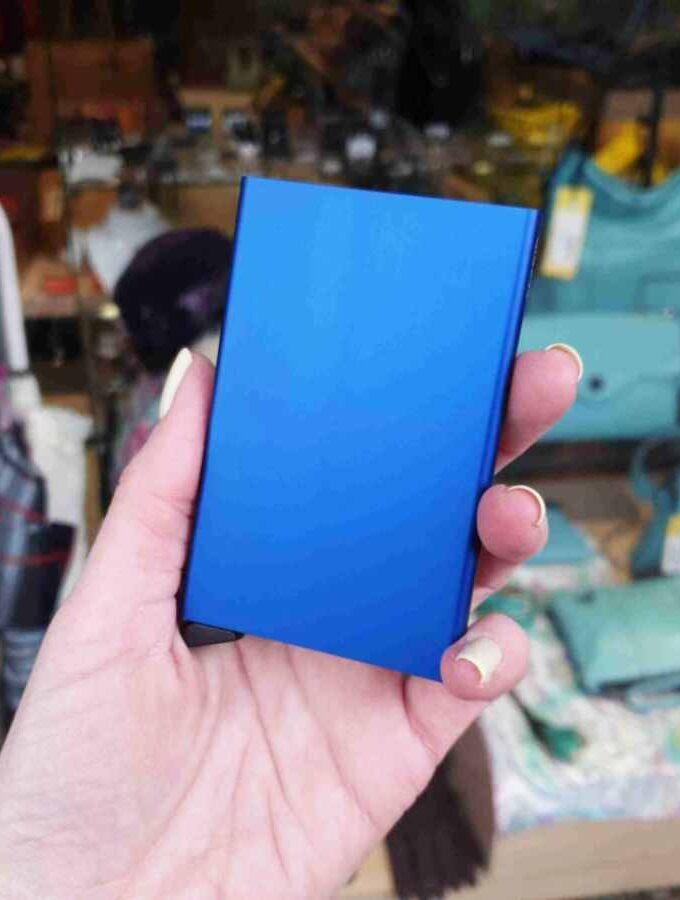 Secrid Cardprotector Blue Aluminium