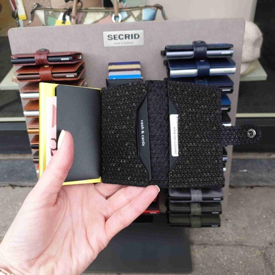 Secrid Miniwallet Diamond Black gele cardprotector