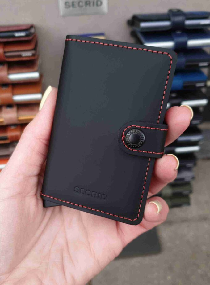 Secrid Miniwallet Matte MM-black & red