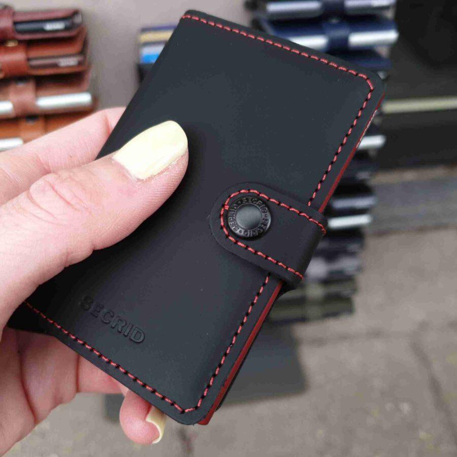 Secrid Miniwallet Matte MM-black & red