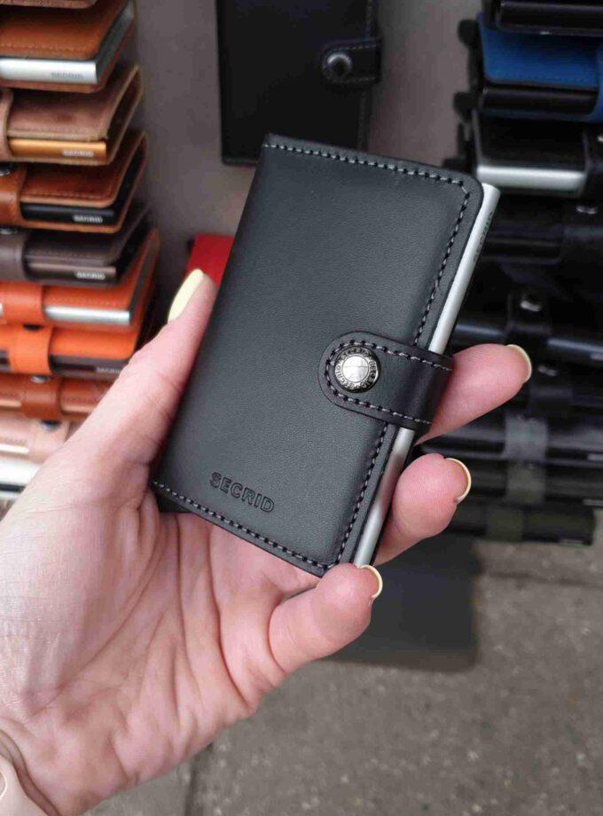 Secrid Miniwallet Original Black zilveren cardprotector