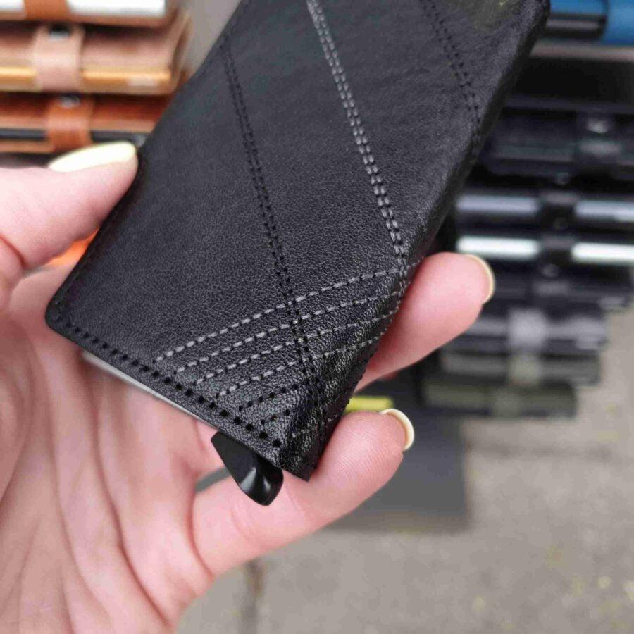 Secrid Miniwallet Stitch Linea Black