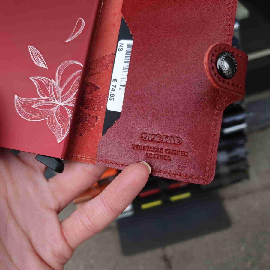 Secrid Miniwallet Stitch Magnolia Rosso