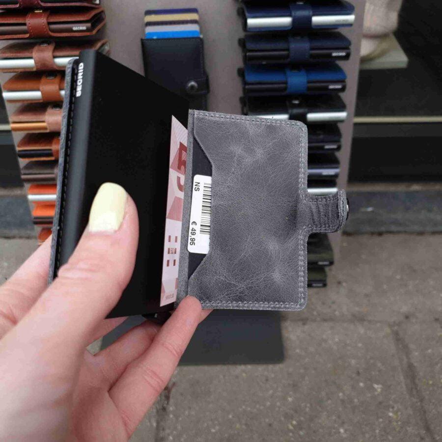 Secrid Miniwallet Vintage Grey Black MV
