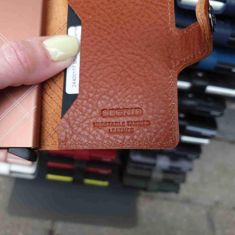 Secrid Miniwallet stitch linea caramello cognac