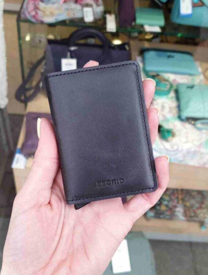 Secrid SlimWallet Vintage Black SV zwart black