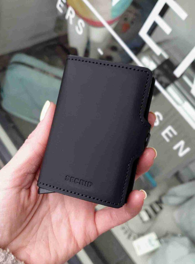 Secrid TwinWallet Matte Black zwarte cardprotectors