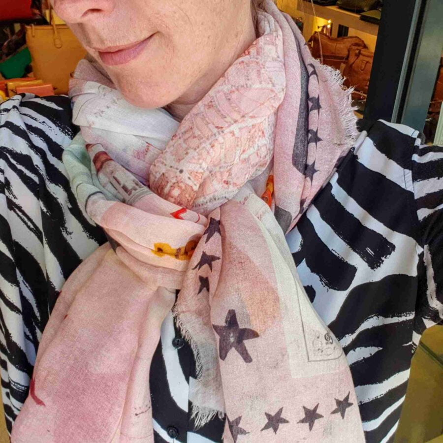 Sjaal Modal met Zijde print Le Marais Paris