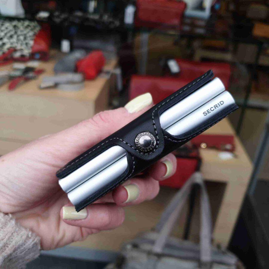 Secrid TwinWallet Original Black silver cardprotectors