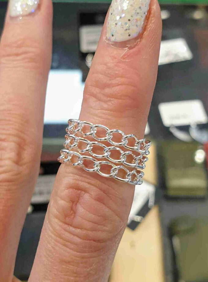 Zilveren kabels 3 losse ringen echt zilver