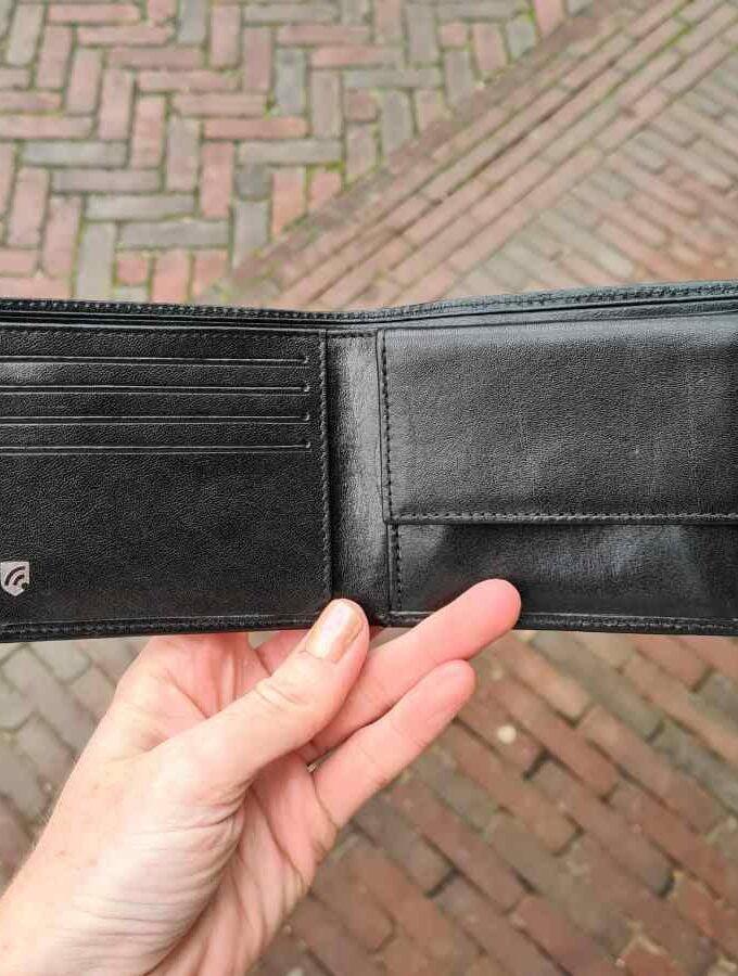 Zwarte herenportemonnee billfold