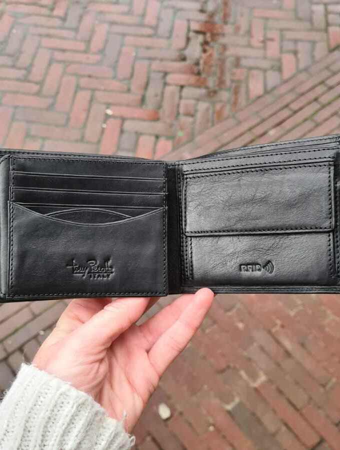 Tony Perotti Billfold RFID 11 CC in zwart