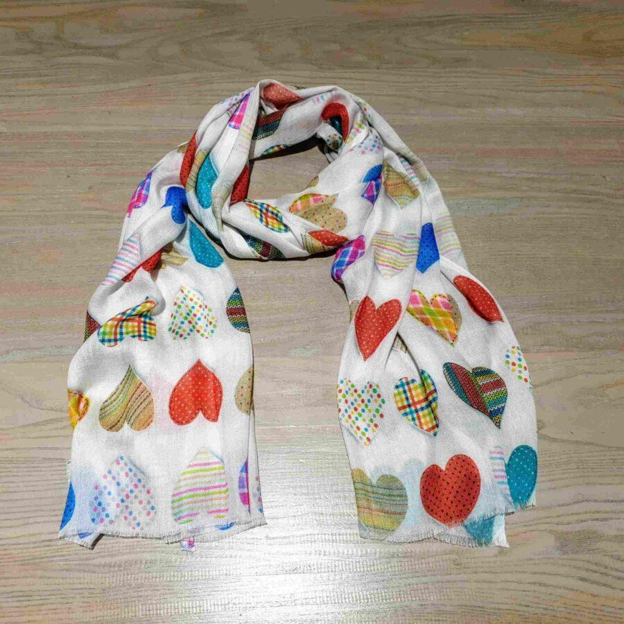 Sjaal gekleurde hartjes van superzacht modal