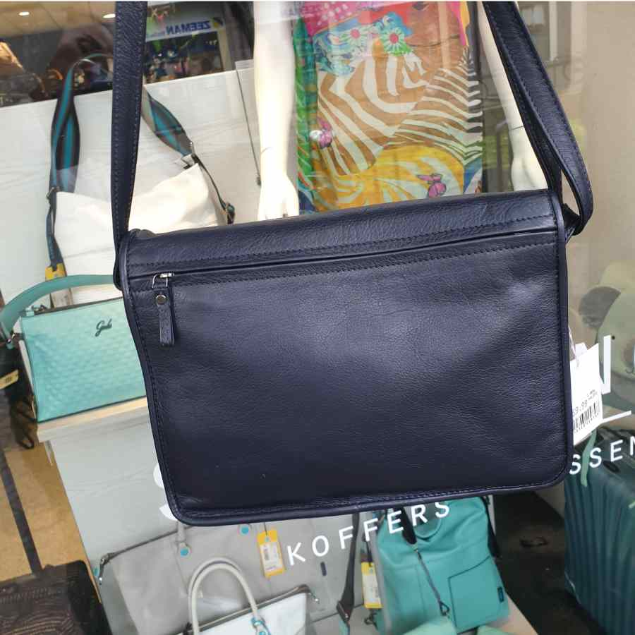 Berba 005-576 schoudertas donkerblauw stewardessentas