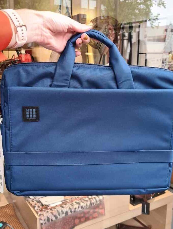 Moleskine blauwe laptoptas 15 inch