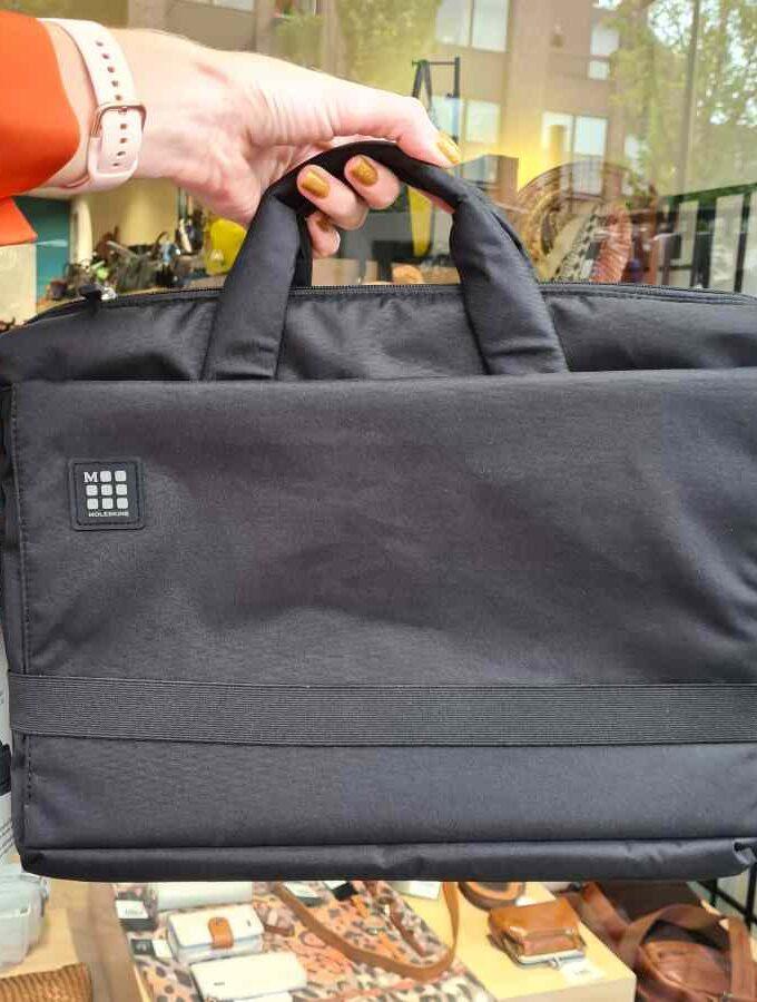 Zwarte Laptoptas 15 inch moleskine