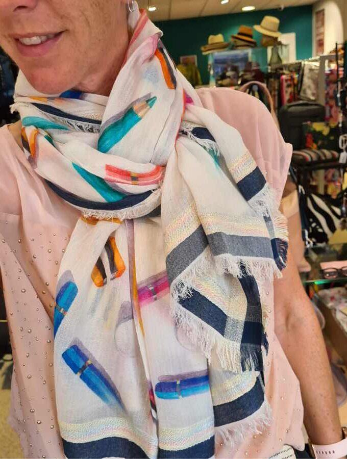 Sjaal gekleurde potloden Modal en Katoen