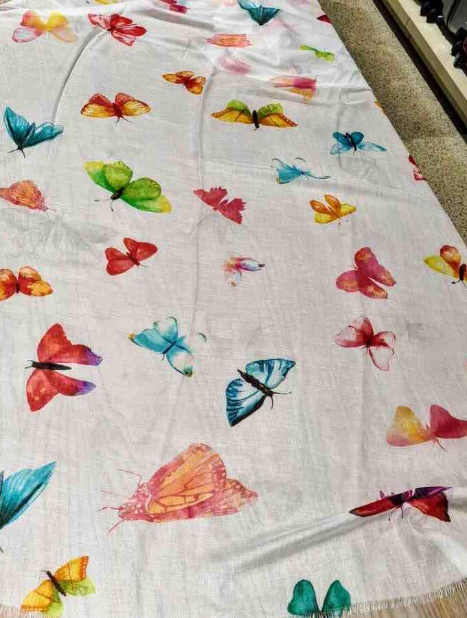Sjaal gekleurde vlinders van 100% modal (2)