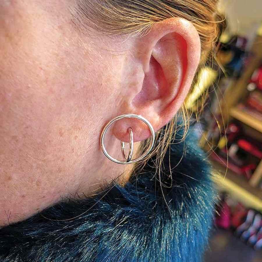oorbellen cirkels 3D effect