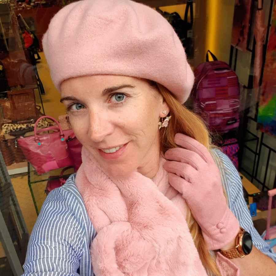 roze hoedje