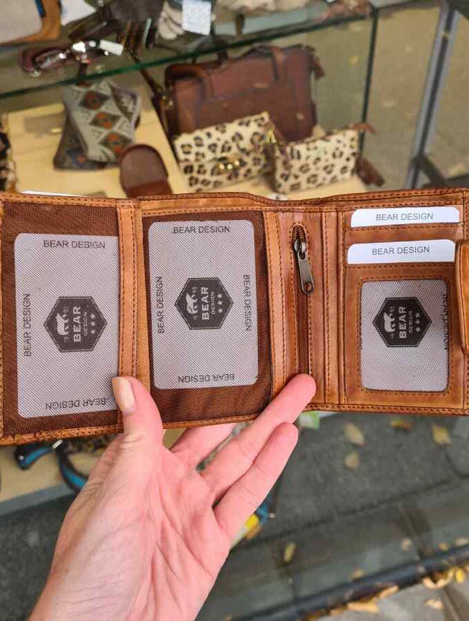 Cognac portemonnee dames Beardesign