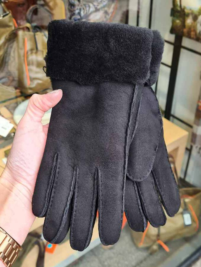 Dames handschoenen vacht in zwart