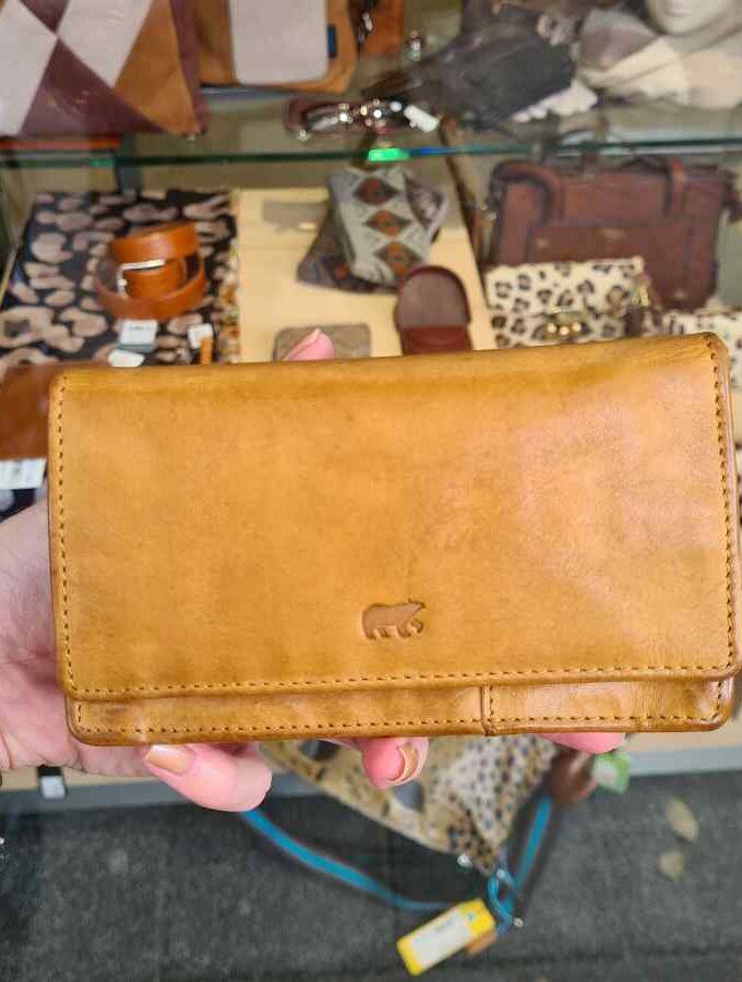 Dames portemonnee RFID okergeel Beardesign