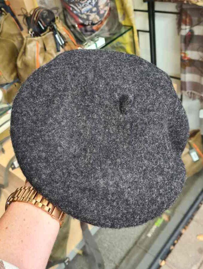 Franse baret van 100% wol in grijs