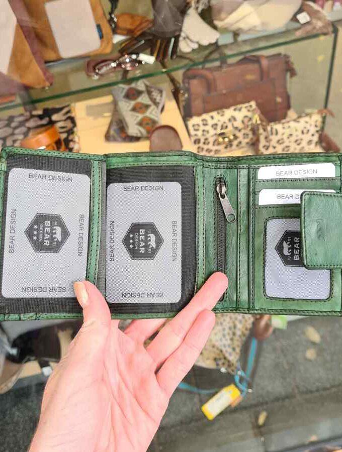 Groene portemonnee dames RFID Beardesign