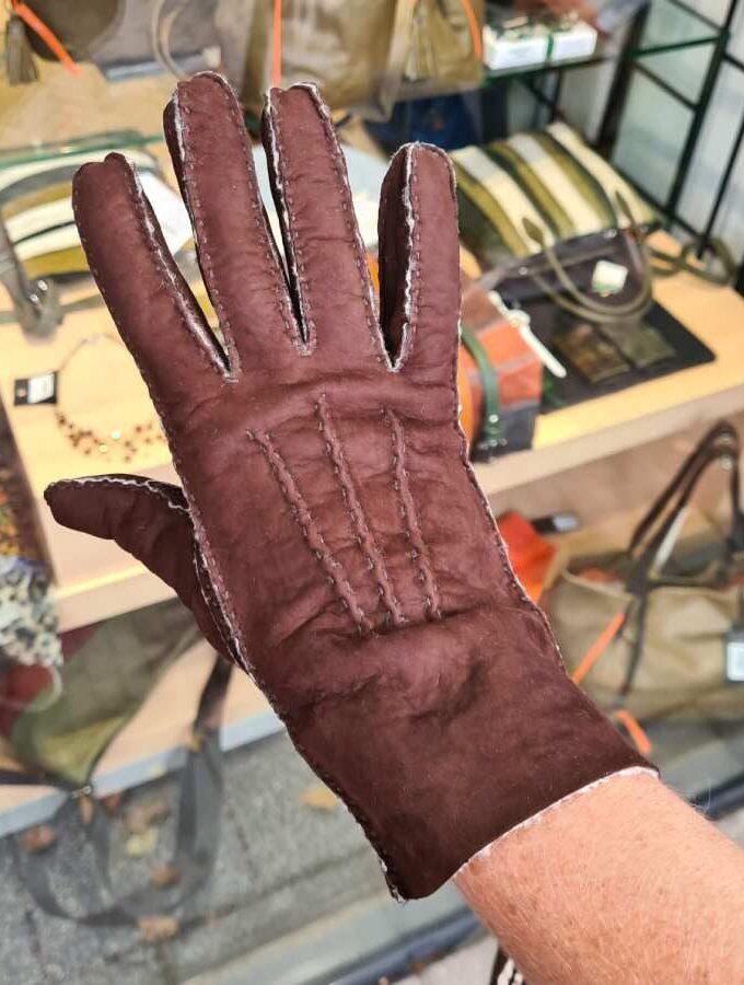 Lammy handschoen bruin wol