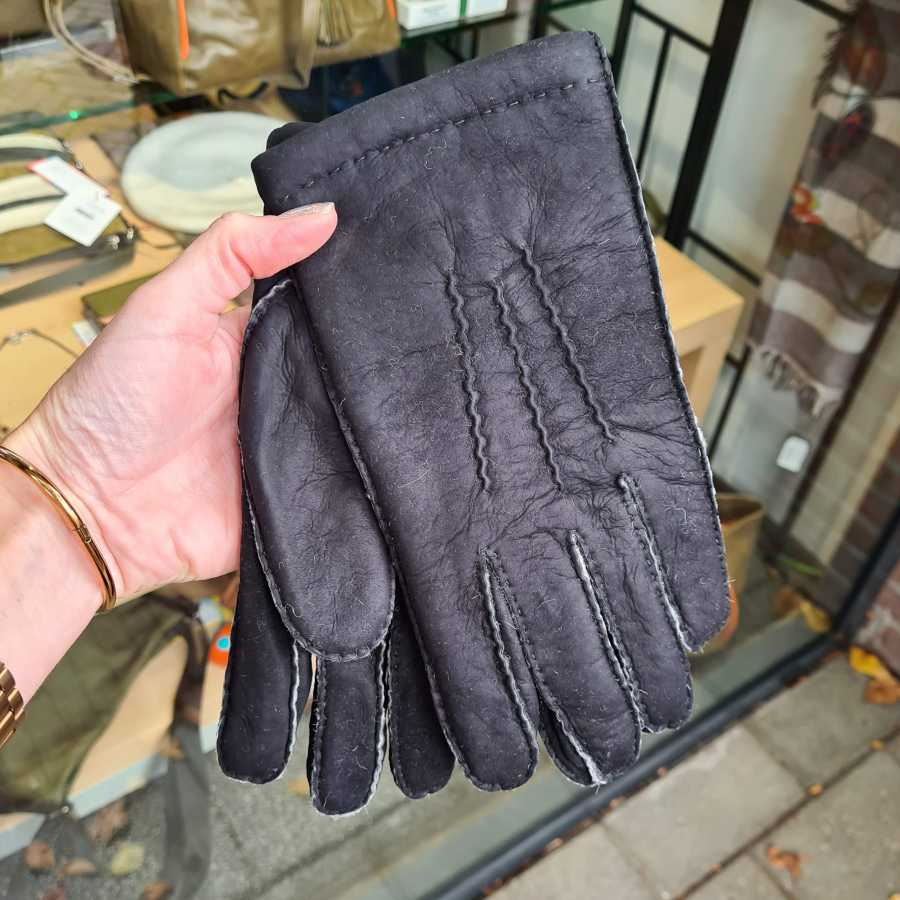Lammy handschoenen Heren zwart