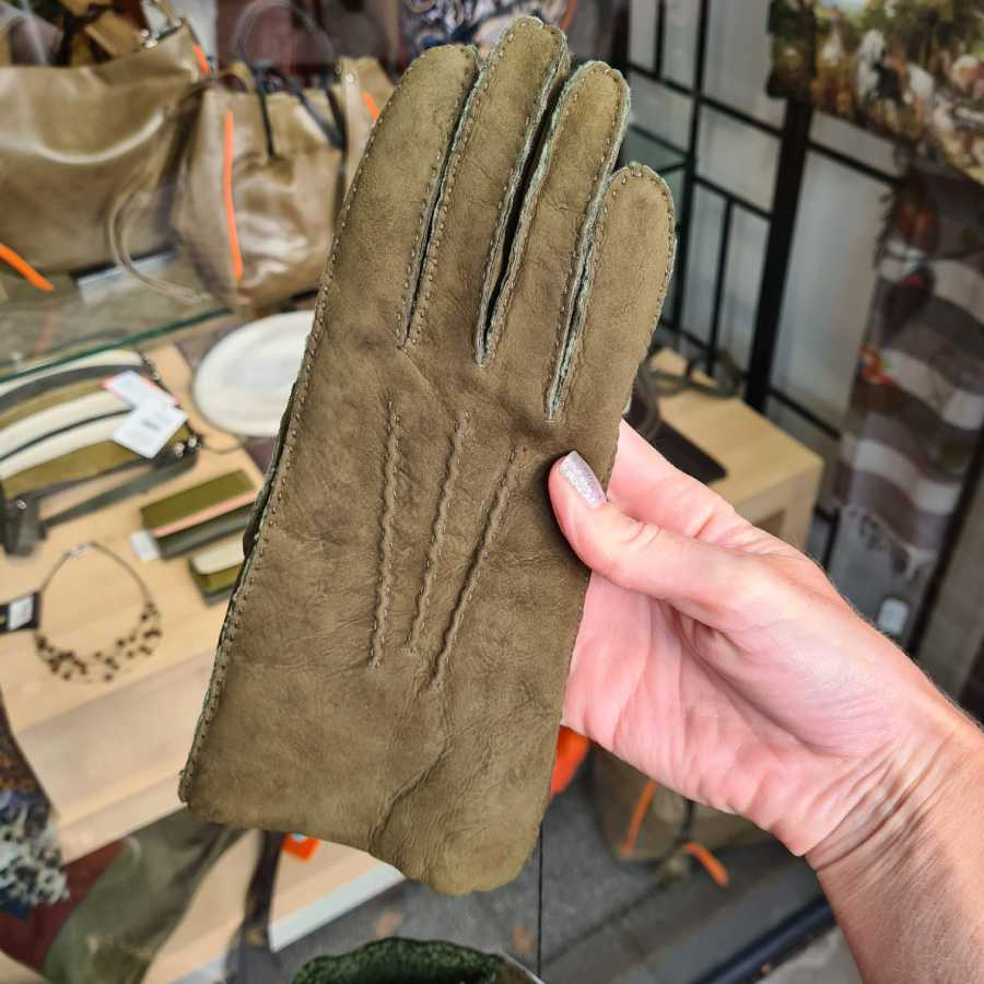 Lammy handschoenen dames groen