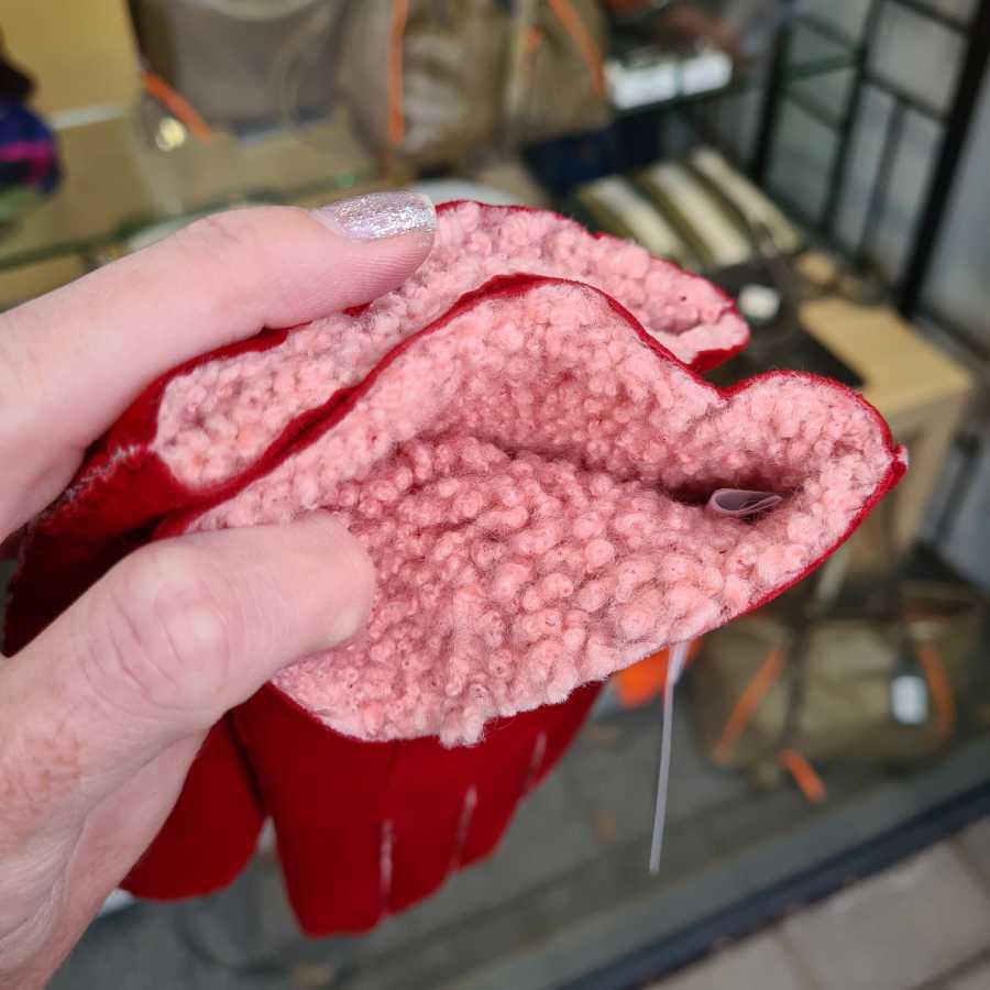 Lammy handschoenen dames rood