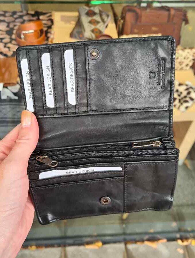 Portemonnee dames RFID zwart Beardesign
