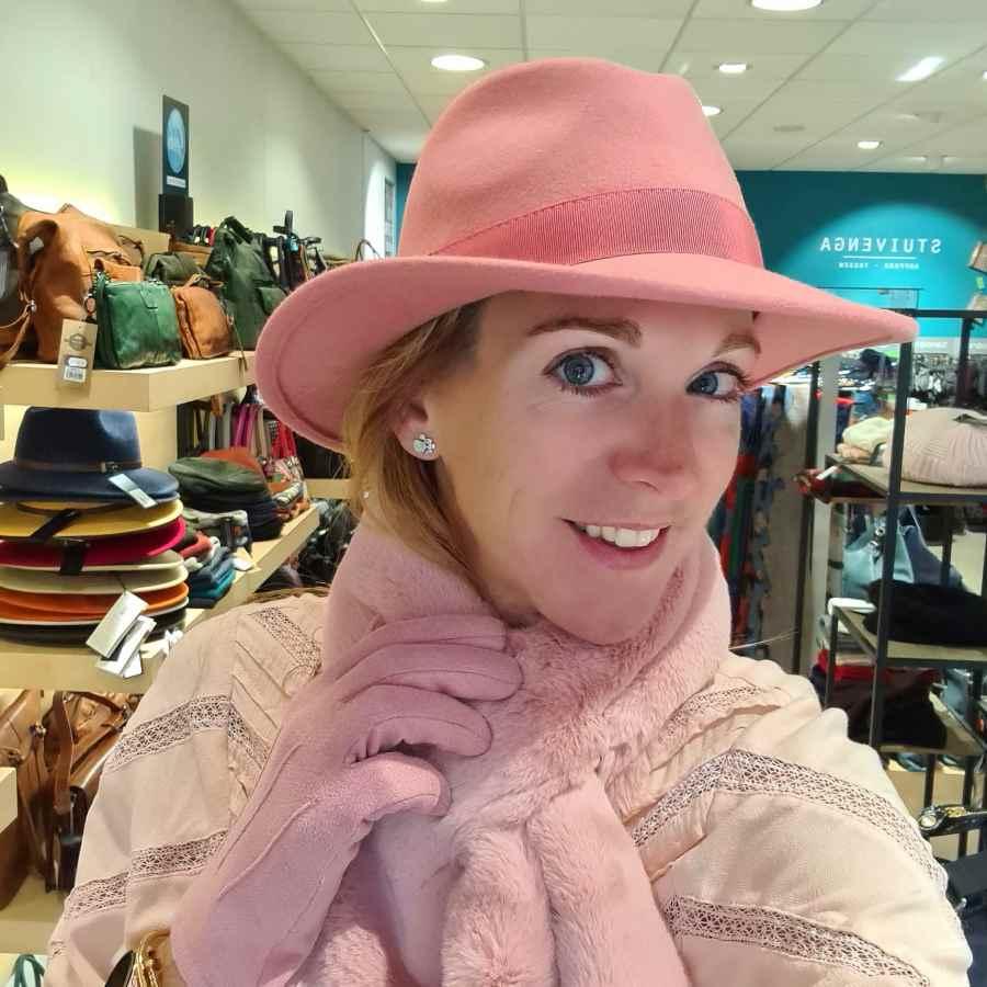 Roze wollen hoed Waterproof en Crushable