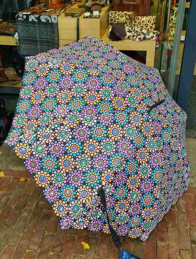 Van kleur veranderende golfparaplu