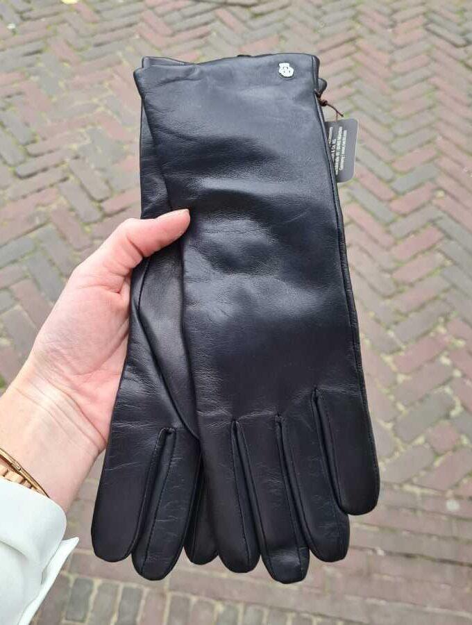Handschoenen donkerblauw dames cashmere voering