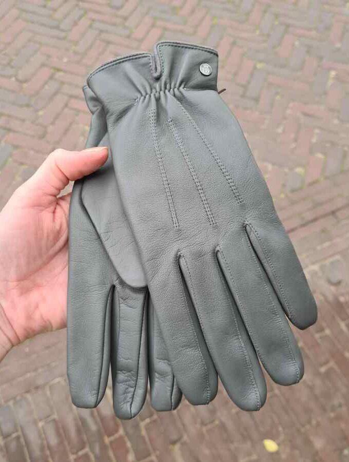 Handschoenen grijs dames Roeckl wollen voering