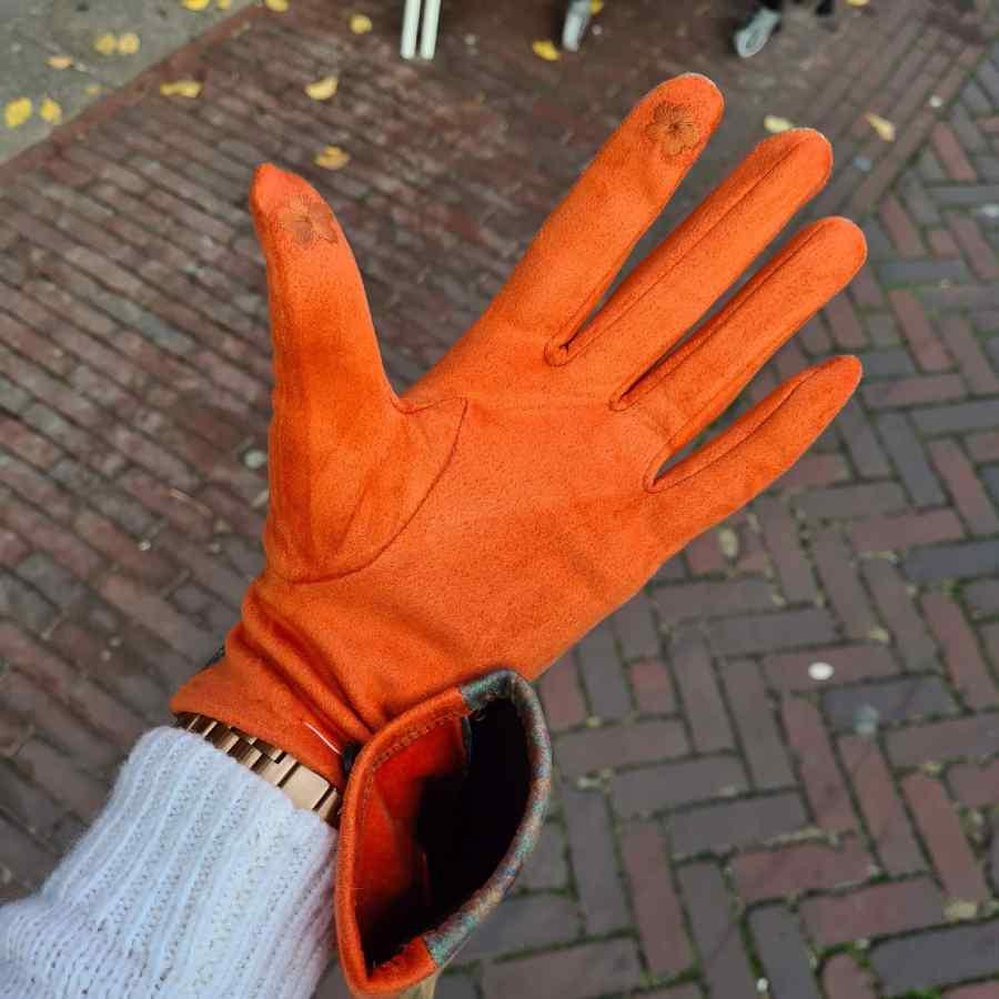 Handschoenen oranje Gustav Klimt de Kus